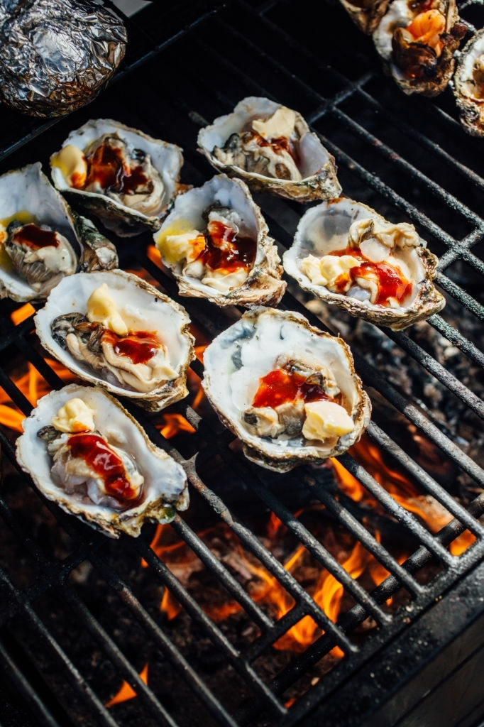 grilled oysters hot sauce